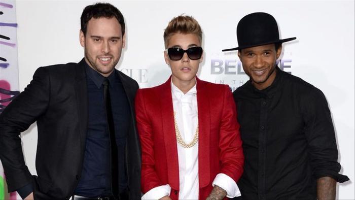 Scooter Braun và Usher đồng hành cùng Justin Bieber từ những ngày đầu tiên của sự nghiệp.