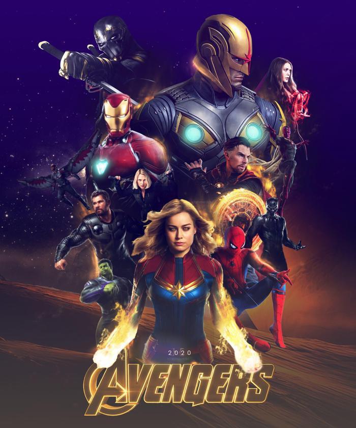 """Poster phim """"Avengers"""" do fan thiết kế."""