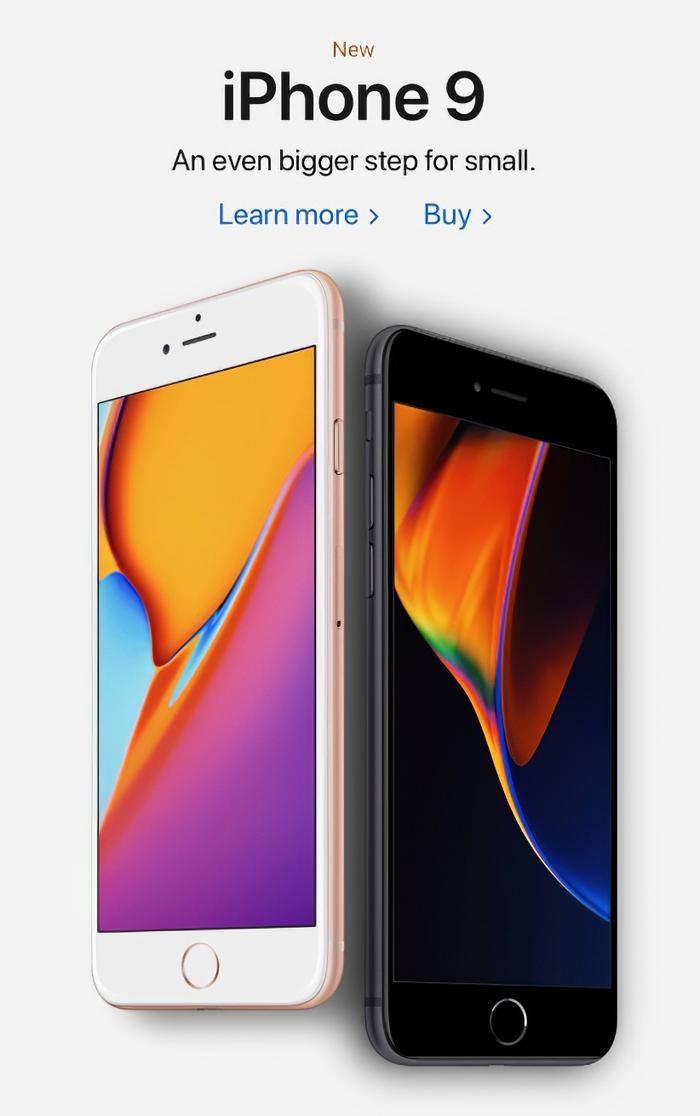 iPhone 9 và iPhone 9 Plus sẽ có giá khởi điểm 399 USD với 3 tuỳ chọnmàu sắc là bạc, xám không gian và vàng. (Ảnh: Twitter)