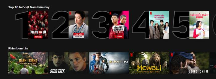 Bộ phim đang đứng ở top 2