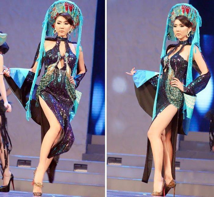 Nhiều trường hợp diễn áo dài trên sàn runway, các người mẫu không thể lựa chọn, làm chủ được trang phục của mình.