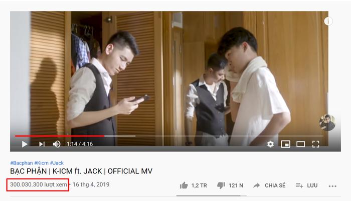 Bạc phận trở thành MV đầu tiên của K-ICM và Jack cán mốc 300 triệu view ảnh 0