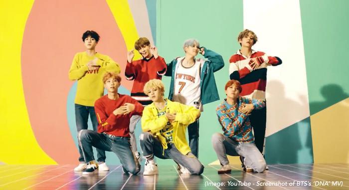 BTS vừa xô đổ kỷ lục củaPSY để trở thành nghệ sĩ Kpop có MV âm nhạc đạt nhiều lượt bình luận nhất trên YouTube. (Ảnh: BTS - DNA)