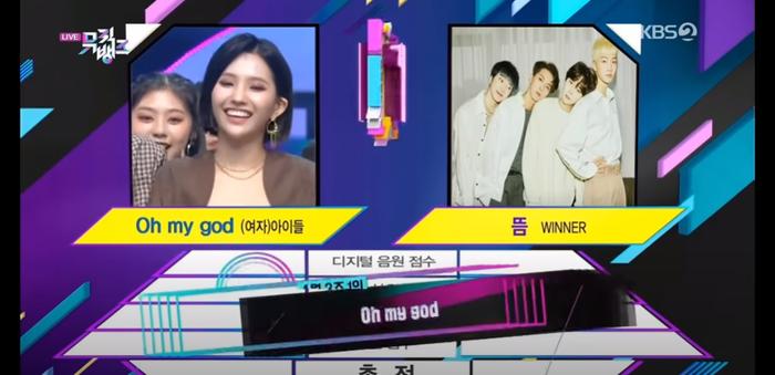 (G)I-DLE giành chiến thắng thứ 2 trên Music Bank, được Apink đích thân tặng hoa chúc mừng, Shuhua sung sướng hét lớn