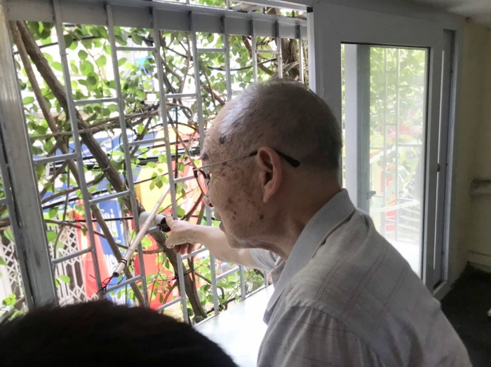 Ngôi nhà 5 tầng phủ kín hoa giấy tuyệt đẹp ở Hà Nội: Mùa hè mát rượi, hàng xóm còn bảo nhờ ông mà tôi được ngắm hoa đẹp ảnh 9