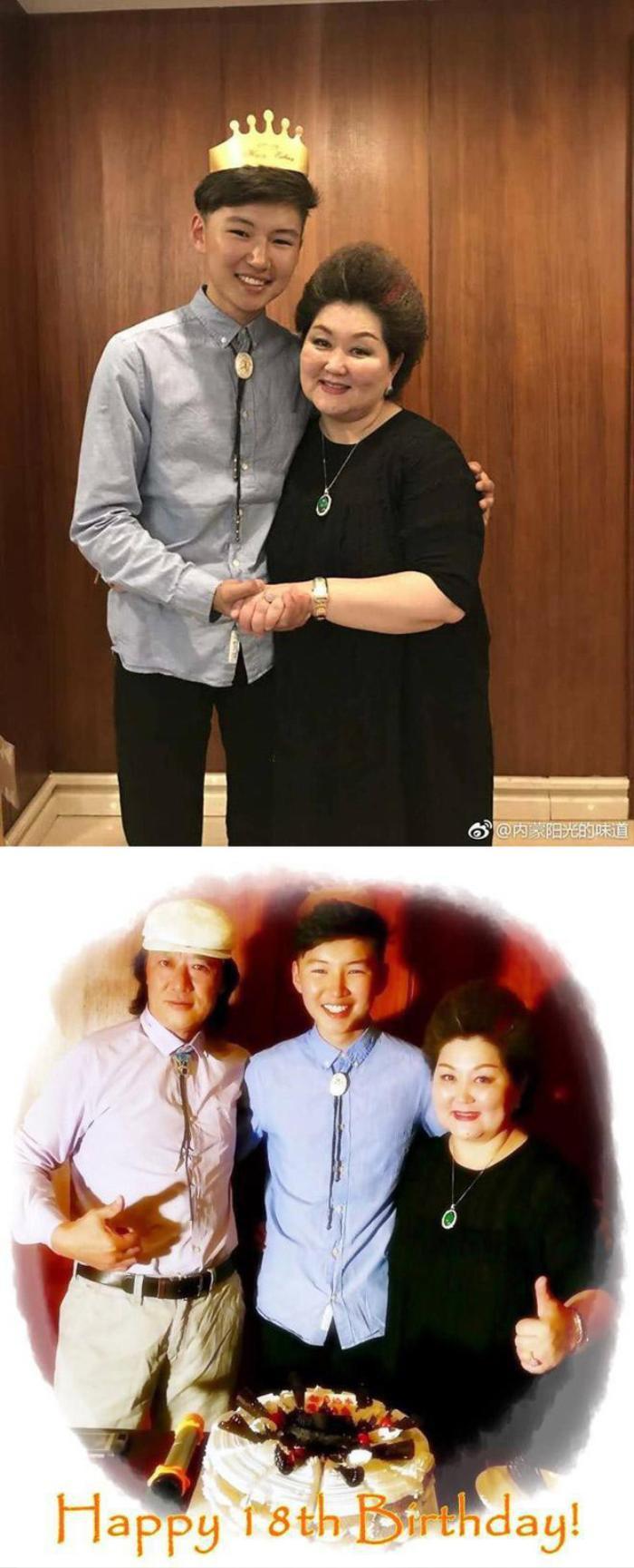 Uudam bên cạnh bố mẹ nuôi là Buren và Rina, là những ca sĩ có tiếng ở xứ Mông Cổ.