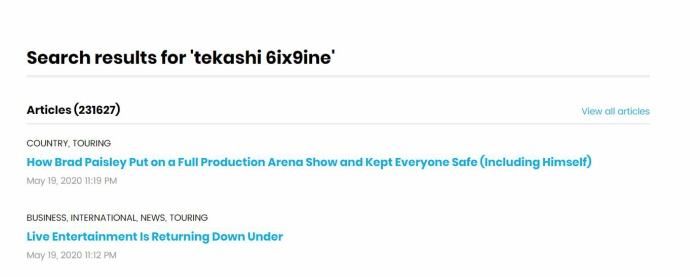 Hồ sơ của Tekashi cũng đã nhanh chóng bị xóa sổ trên hệ thống của Billboard. Điều này cũng đồng nghĩa rằng nam rapper sẽ không bao giờ xuất hiện trên tất cả các BXH của Billboard nữa.