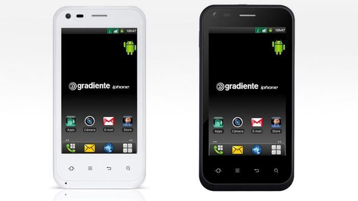 """Chiếc điện thoại Android mang thương hiệu """"iPhone"""" củaIGB Electronica. (Ảnh:IGB Electronica)"""
