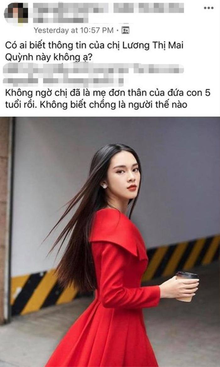"""Quỳnh Lương bất ngờ bị """"réo tên"""" trong một nhóm kín chuyên bàn về người nôi tiếng."""