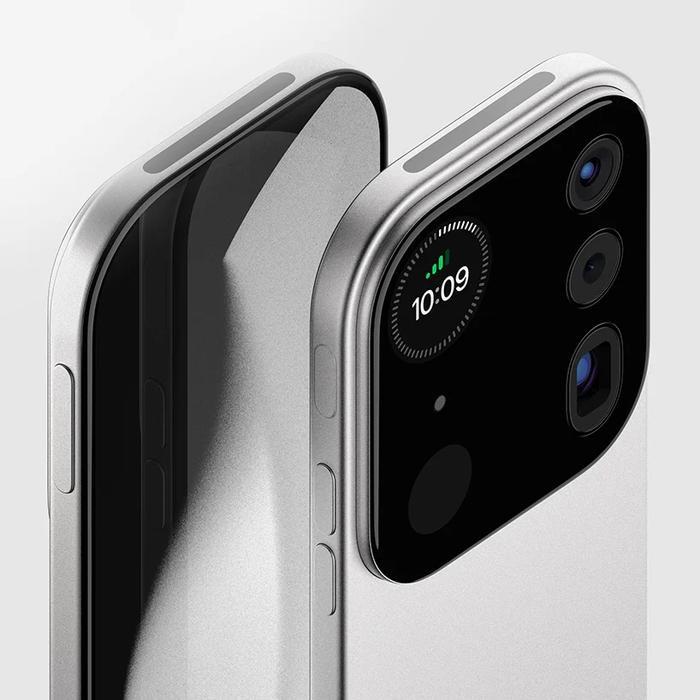 Chiếc iPhone này mang tên Mosaic, được nhà thiết kế Louis Berge lấy ý tưởng từ một việc biến camera của smartphone có thể hoạt động như một thiết bị riêng biệt hoàn toàn.(Ảnh: Louis Berger)