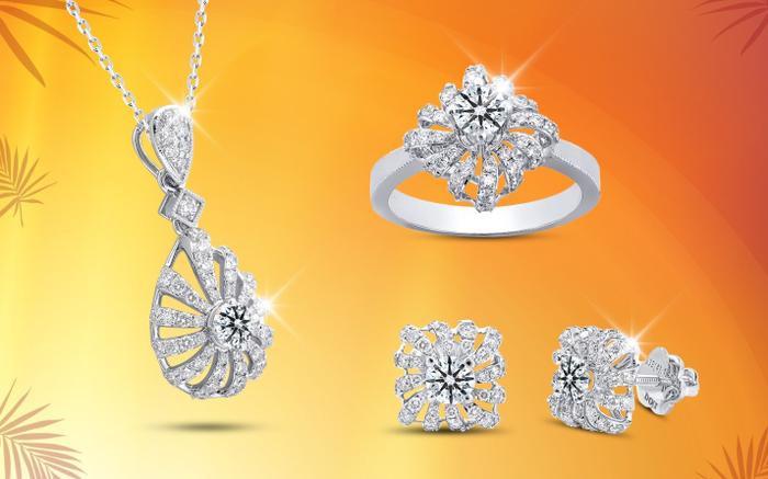 Các quý cô thanh lịch trót yêu trang sức kim cương cũng có thể thỏa mãn với những BST gắn Kim cương siêu lý tưởng 8 Hearts and 8 Arrows. DOJI đặc biệt ưu đãi 10% cho dòng trang sức này từ 01/06 đến 15/06.
