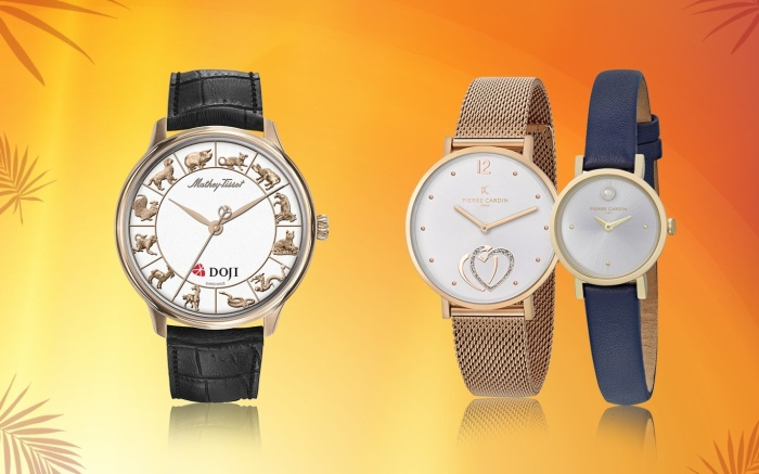 Còn với sản phẩm đồng hồ, DOJI Watch tặng ngay 1 chỉ vàng Âu vàng Phúc Long khi khach hàng mua đồng hồ phiên bản giới hạn Rồng hoặc phiên bản 12 con Giáp. Với các thương hiệu đồng hồ khác, DOJI Watch cũng giảm giá 20%.