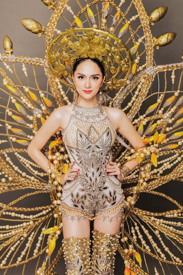 Sự kết hợp từ sức mạnh dẻo dai của cây mây, tất cả các chi tiết từ những cái nhỏ thắt chặt lại thành cái lớn cho thấy sự đoàn kết - đức tính lớn nhất của người Việt Nam. Còn hoa sen với màu vàng được chọn như thể hiện sự sắc son quý giá trong tấm lòng của người phụ nữ Việt Nam.