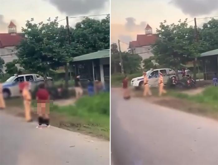 Người đàn ông ăn vạ CSGT bằng hành động kỳ quặc ngay giữa đường Ảnh 1