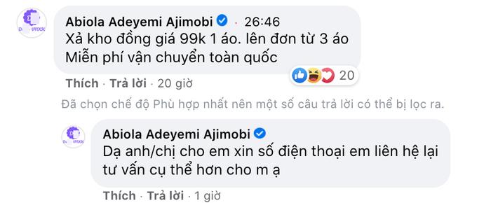 Facebook cố nghị sĩ người Nigeria qua đời vì COVID-19 bị hacker Việt chiếm dụng để bán hàng online Ảnh 7