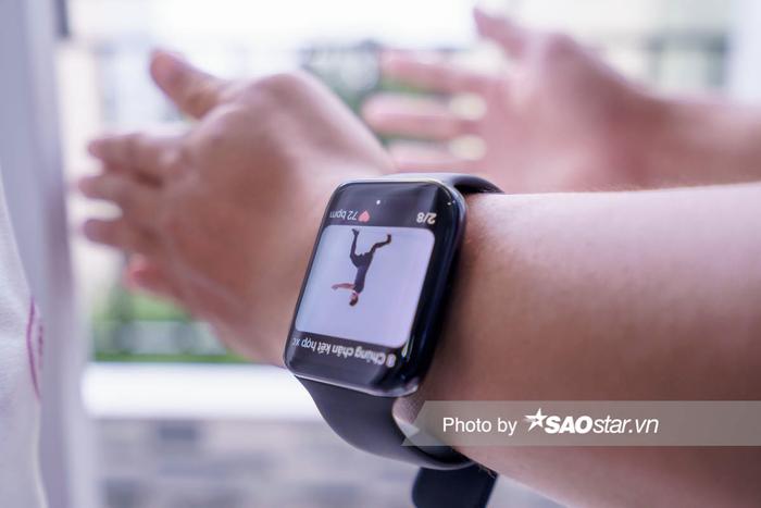 Dùng thử các tính năng theo dõi sức khoẻ và tập thể dục tại nhà trên OPPO Watch