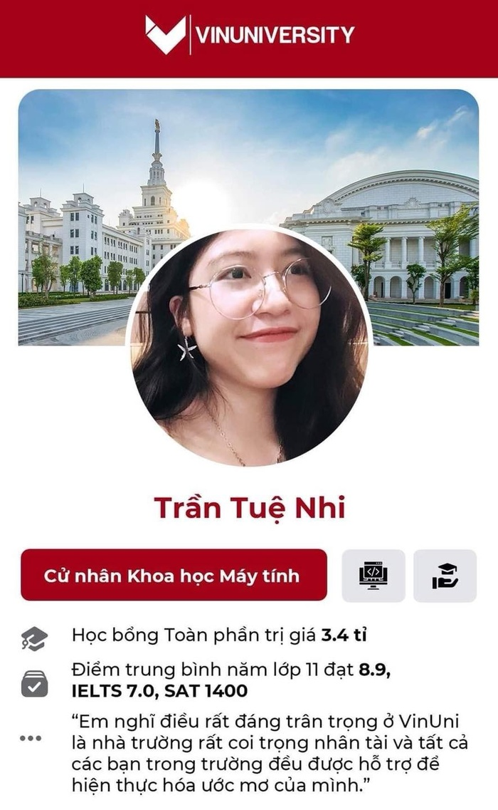 ĐH VinUni tung 'profile' cực đỉnh của những tân sinh viên đầu tiên