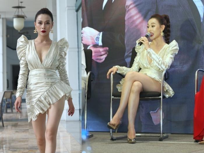 Mặc váy siêu ngắn lên sóng truyền hình: Sao Việt ngượng chín mặt liên tục tìm cách che đậy Ảnh 15