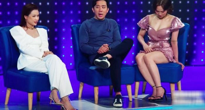 Mặc váy siêu ngắn lên sóng truyền hình: Sao Việt ngượng chín mặt liên tục tìm cách che đậy Ảnh 4
