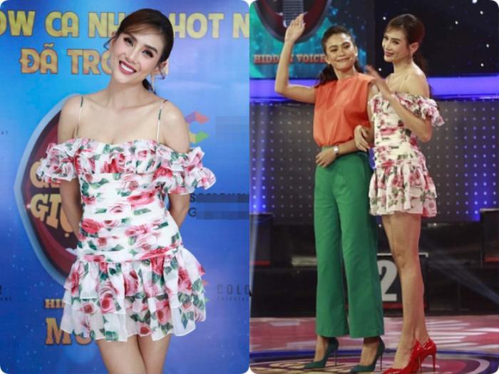 Mặc váy siêu ngắn lên sóng truyền hình: Sao Việt ngượng chín mặt liên tục tìm cách che đậy Ảnh 7