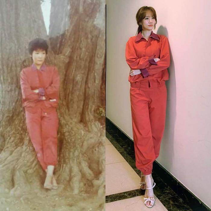 Hari Won chăm diện đồ cũ, mặc lại đồ của mẹ chồng mà vẫn lộng lẫy như thường Ảnh 9