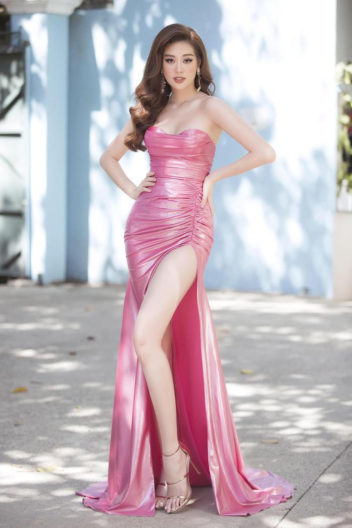 5 khoảnh khắc Khánh Vân tỏa sáng xuất thần với đầm dạ hội xẻ tà, bay bổng: Sẵn sàng càn quét Miss Universe Ảnh 7