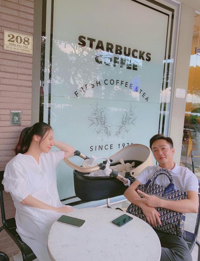 Than thở vì phải trông con cho vợ đi cafe, Cường Đô La lập tức bị Đàm Thu Trang 'phản pháo cực mạnh' Ảnh 5