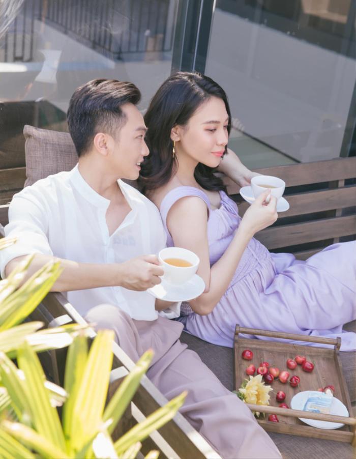 Than thở vì phải trông con cho vợ đi cafe, Cường Đô La lập tức bị Đàm Thu Trang 'phản pháo cực mạnh' Ảnh 1