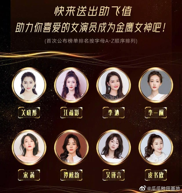 Danh sách nữ minh tinh được bầu chọn Nữ thần Kim Ưng 2020 chính thức lộ diện: Dương Mịch bị loại, Ngu Thư Hân lại có tên Ảnh 9