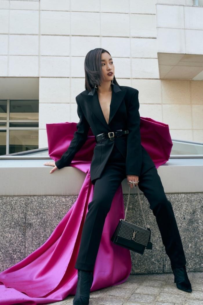 Chẳng cần váy áo điệu đà, Đỗ Mỹ Linh 'chặt đẹp' dàn mỹ nhân với style nữ quyền Ảnh 8