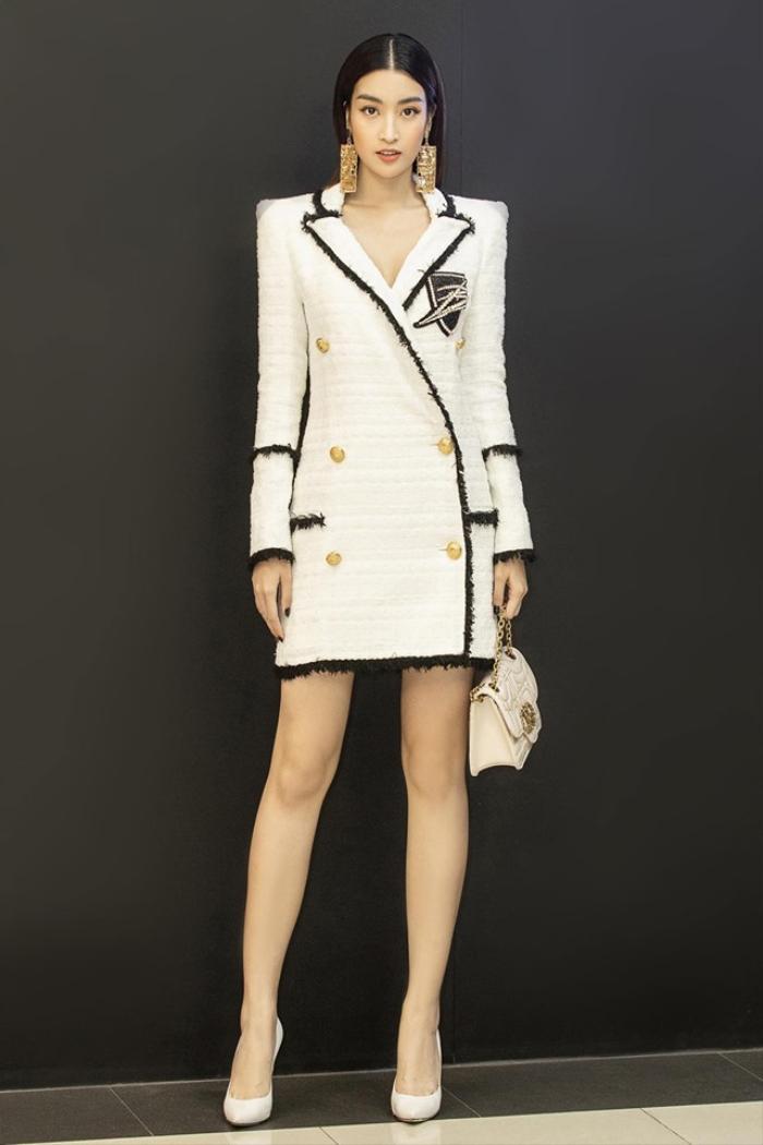 Chẳng cần váy áo điệu đà, Đỗ Mỹ Linh 'chặt đẹp' dàn mỹ nhân với style nữ quyền Ảnh 5
