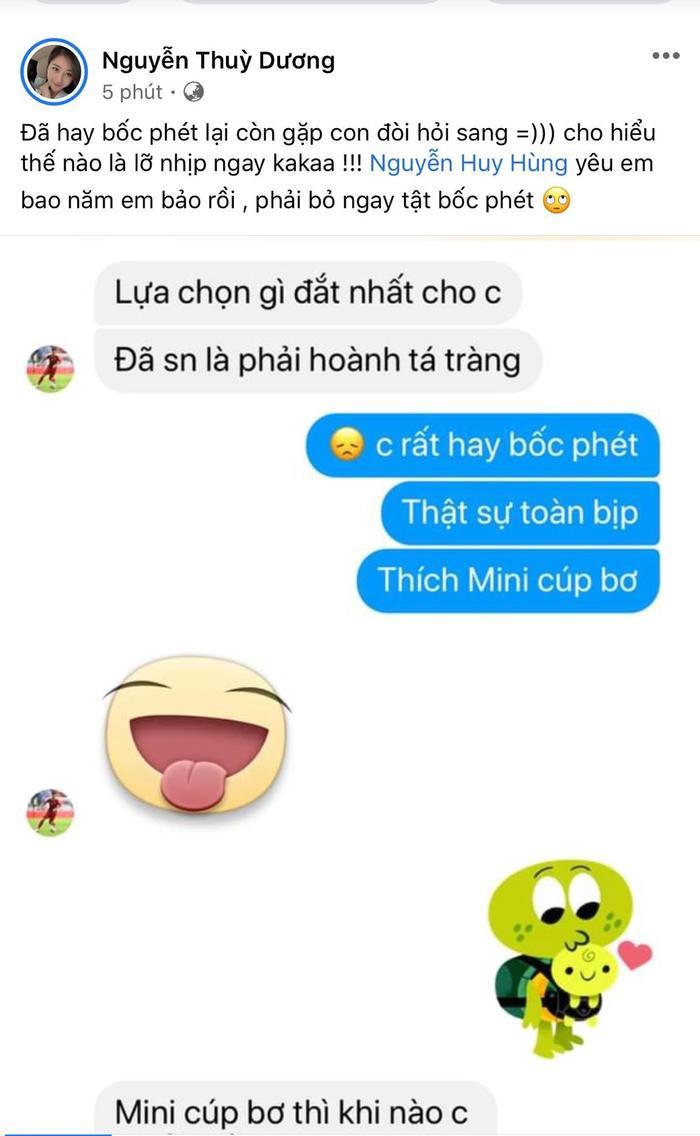 Bạn gái 'lầy lội' yêu cầu tiền vệ Huy Hùng bỏ ngay tật 'bốc phét' Ảnh 1