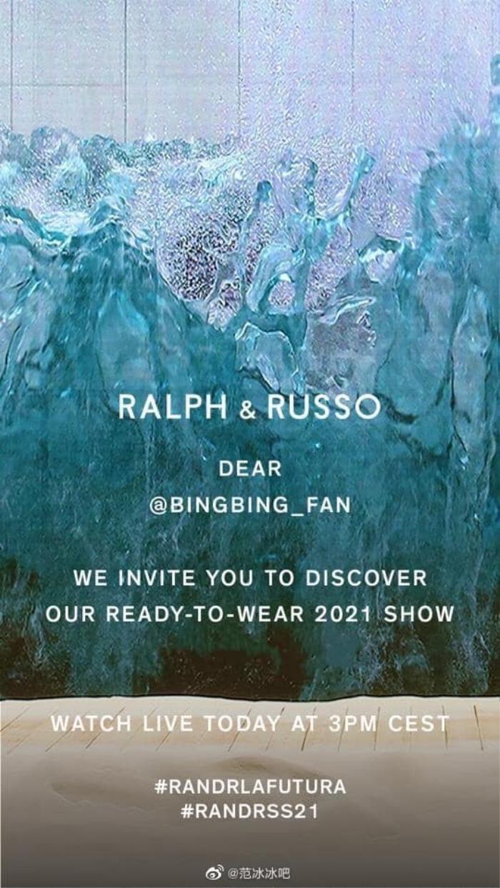 Phạm Băng Băng là sao Hoa ngữ duy nhất được Ralph & Russo mời xem show trực tuyến, đẳng cấp là đây! Ảnh 4
