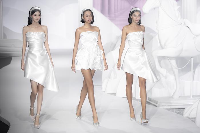 Hoàng Thuỳ, Minh Tú diện váy cưới quá sức lộng lẫy khiến fan tê liệt Ảnh 13