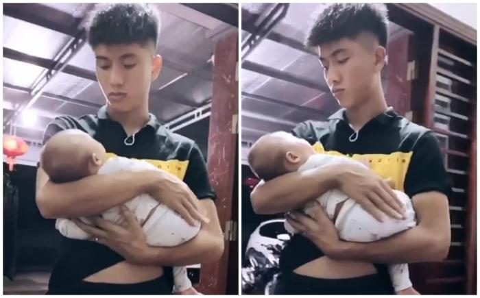 Phan Văn Đức nhờ vợ bế con gái, nàng WAGs Nhật Linh từ chối phũ phàng Ảnh 1