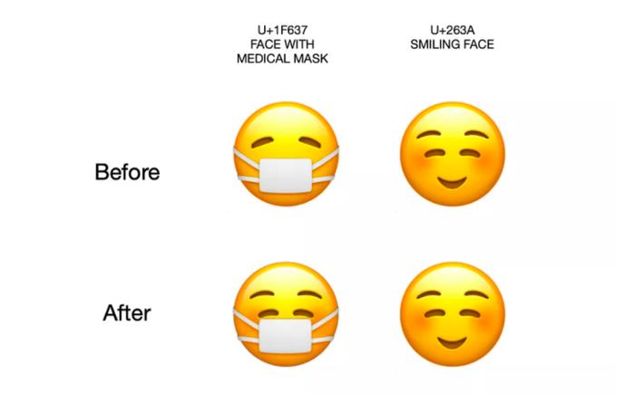 Emoji đeo khẩu trang của Apple vừa có một thay đổi thú vị Ảnh 2