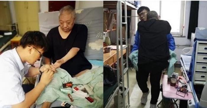 Nam sinh 13 năm ròng chăm sóc cha bị liệt, đưa cha vào ở KTX để tiện chăm sóc và tiếp tục giấc mơ đại học Ảnh 1