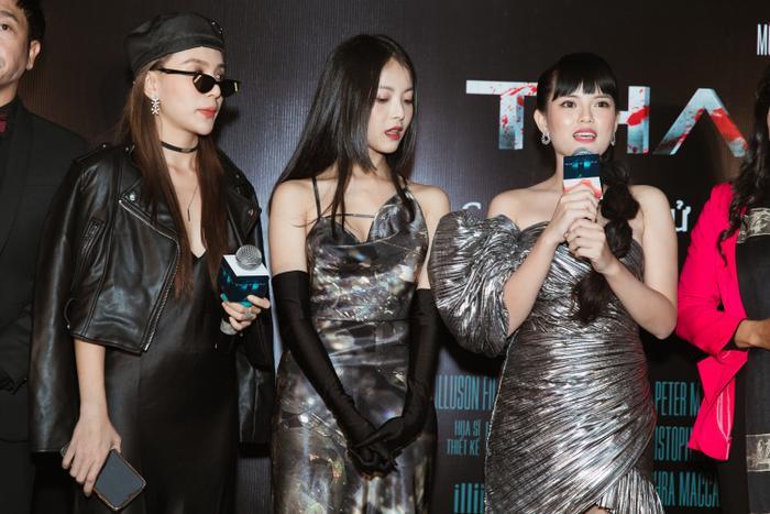 Chỉ hát OST, Han Sara vẫn 'chặt đẹp' thảm đỏ họp báo phim 'Thang máy' Ảnh 15