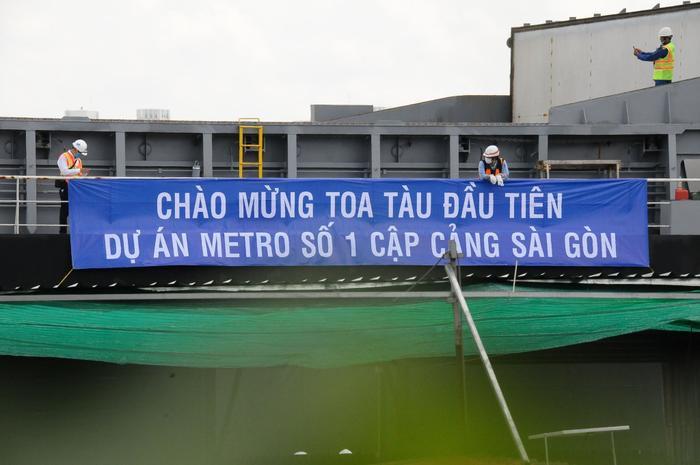 Hình ảnh đầu tiên của đoàn tàu Metro Bến Thành - Suối Tiên vừa có mặt ở Sài Gòn Ảnh 5