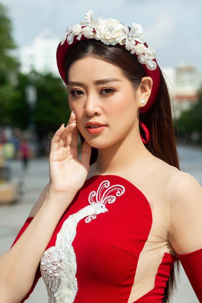 Hoa hậu Hoàn vũ Việt Nam Khánh Vân trở thành Đại sứ hình ảnh Lễ hội Áo dài TPHCM Ảnh 10