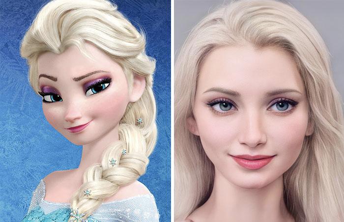 Các nhân vật trong Disney sẽ trông như thế nào khi bước ra đời thực? Ảnh 4