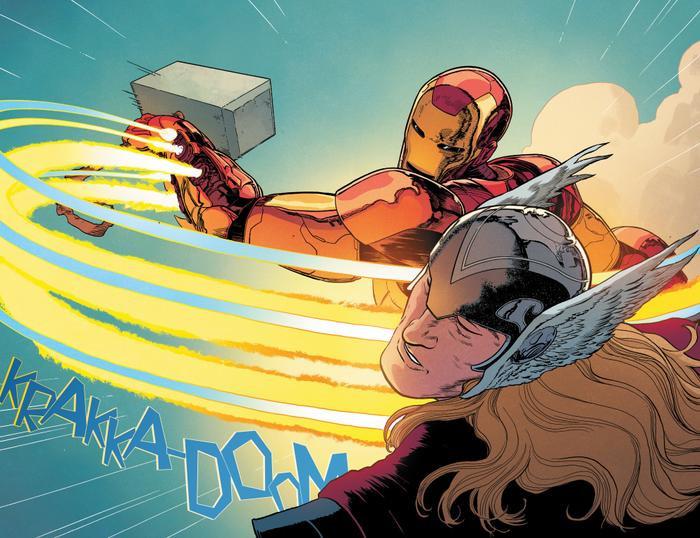 Iron Man vừa cầm búa nện vào mặt Thor? Ảnh 6