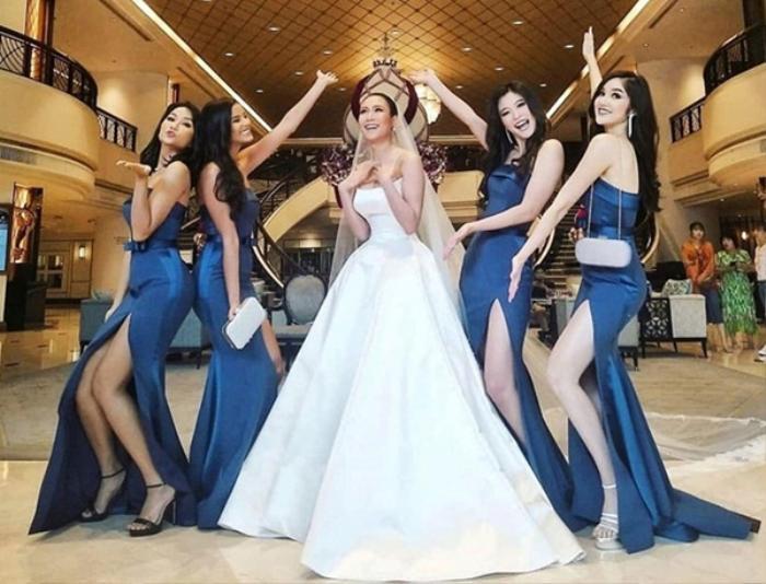 Khi các nàng hậu Việt làm phù dâu, cô dâu xinh đến mấy cũng thấp thỏm vì sợ bị chiếm sóng Ảnh 12