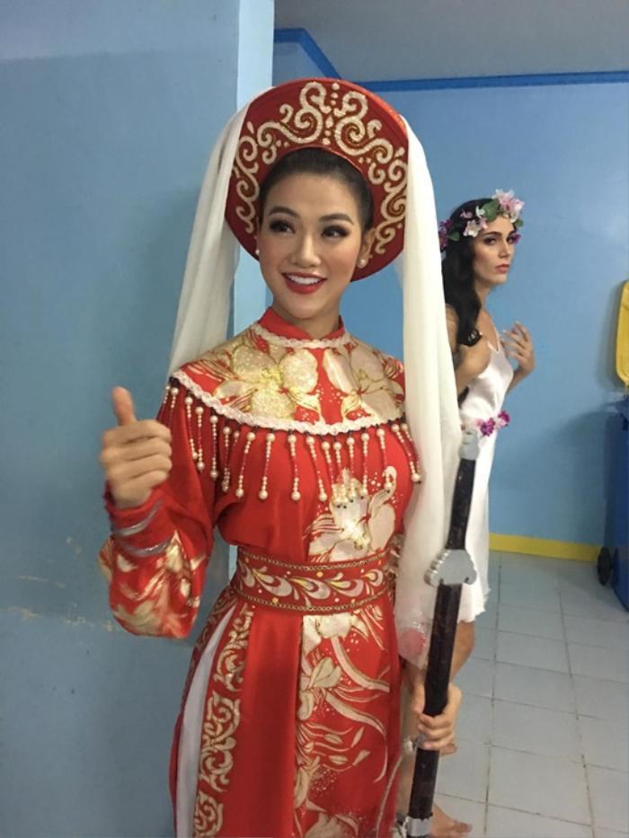 Hoa hậu Việt đồng loạt chọn áo dài để thi Tài năng, duy Nam Em 'đại thắng' với ý tưởng thú vị Ảnh 9