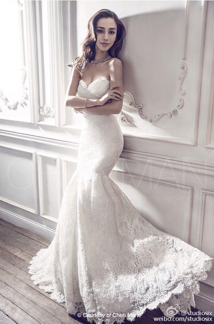 Fan ngây ngất vì Địch Lệ Nhiệt Ba & Angelababy mặc váy cưới đẹp như công chúa cổ tích Ảnh 1