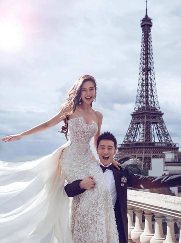 Fan ngây ngất vì Địch Lệ Nhiệt Ba & Angelababy mặc váy cưới đẹp như công chúa cổ tích Ảnh 6
