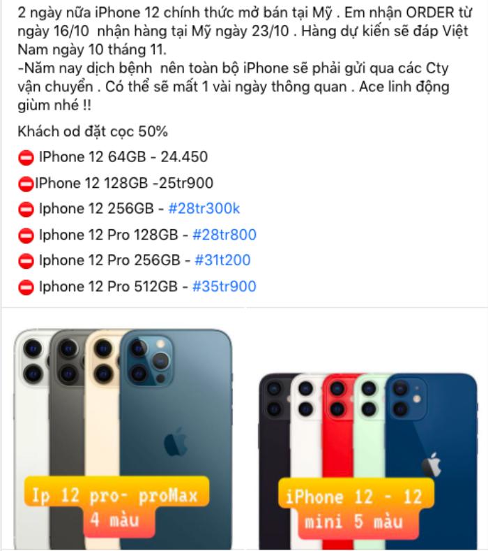 Nhiều người nhận 'order', iPhone 12 xách tay đội giá mạnh tại VN, cao nhất tới 46 triệu đồng Ảnh 3