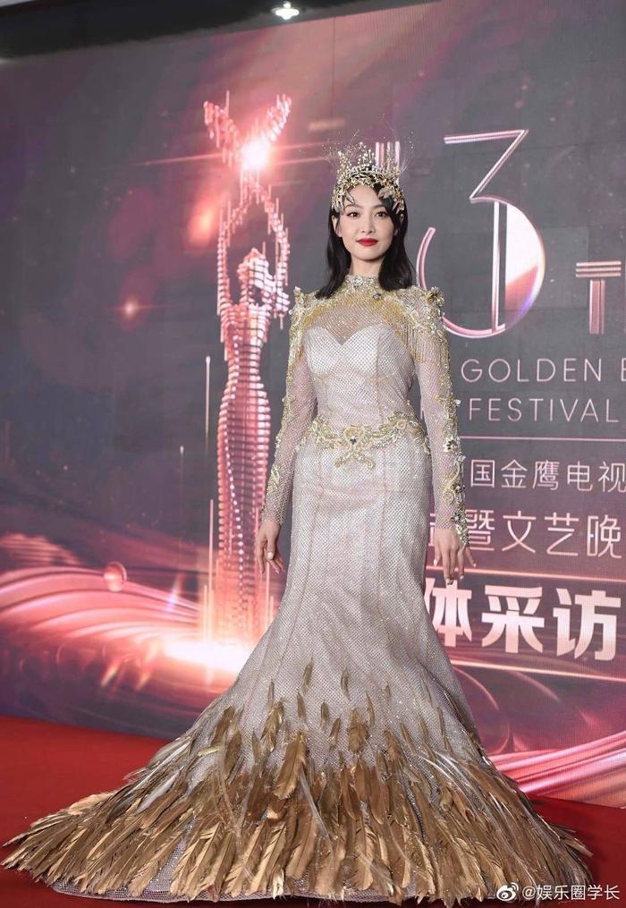 Tống Thiến bị chê là 'Nữ thần Kim Ưng' xấu nhất lịch sử vì chiếc váy thảm họa: Lép vế Triệu Lệ Dĩnh và Địch Lệ Nhiệt Ba! Ảnh 35