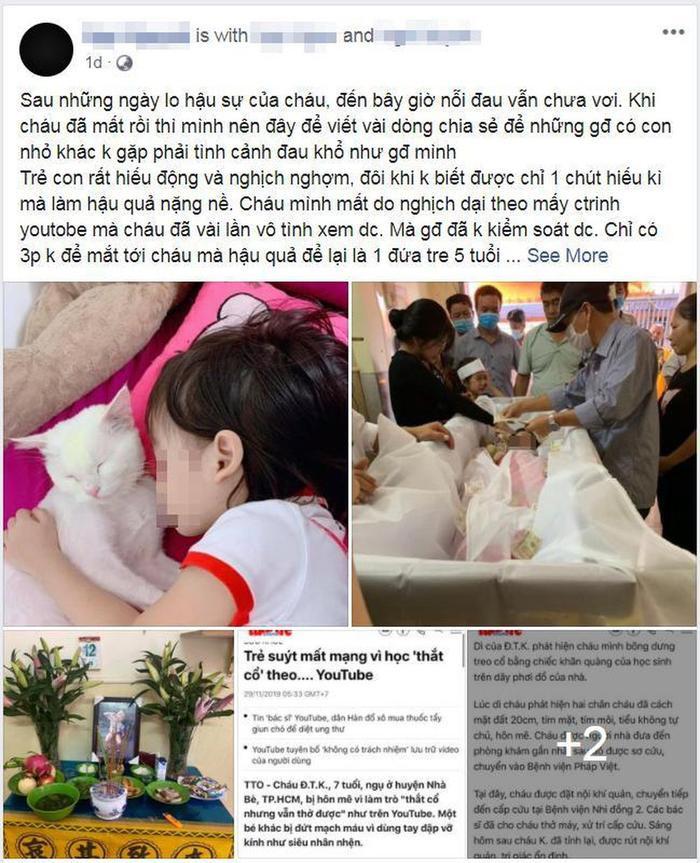 Bé gái 5 tuổi tử vong do học theo video treo cổ và loạt trào lưu độc hại nhắm đến người dùng trên Internet Ảnh 1