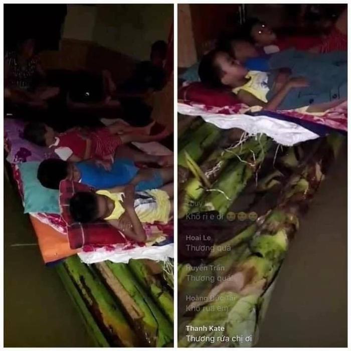 Dân Quảng Trị lên mạng cầu cứu khẩn thiết trong đêm: Trẻ em phải ngủ trên thân chuối, nổi lên theo dòng nước lũ Ảnh 5